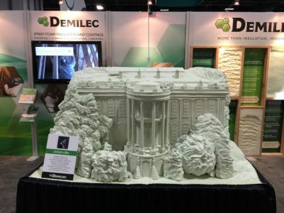 An artist created this sculpture from Heatlok Soy 200, which was an attention getter at Greenbuild 2015 in Washington, D.C.