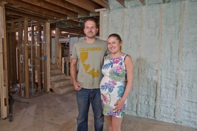 Mike and Margaret Lyczko chose spray foam insulation with renewable soy content to renovate their new Morton Grove, Ill. home. The long-term economic benefits attracted them to the product.